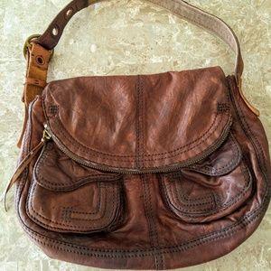 Lucky Brand Lamb Leather Boho Shoulder Bag